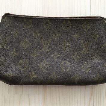VOND4H Louis Vuitton canvas brown monogram pochette clutch
