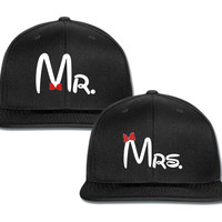 mr & mrs couple matching snapback cap