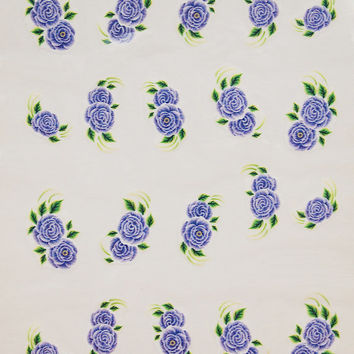 Purple rose nail art water decals / Floral nail decorations / Summer manicure supplies/ Nail water transfers 20pcs