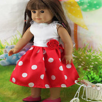 cute 2015 fashion clothes dress for 18inch American girl doll party b76