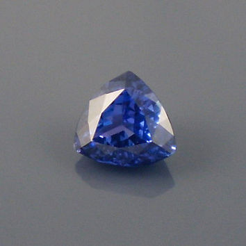 Tanzanite: 5.56ct Blue Violet Purple Trillion Shape Gemstone, Natural Hand Made Faceted Gem, Loose Precious Mineral, Jewelry Supply 20159