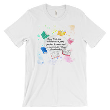 Make Your Own Story Terry Pratchett Quote Men's short sleeve t-shirt