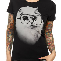 Goodie Two Sleeves Hip Cat Girls T-Shirt | Hot Topic