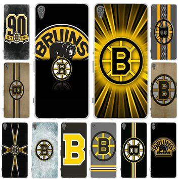 Soft Silicon Cell Phone Cases for Sony Xperia Z Z1 Z2 Z3 Z4 Z5 Compact Z5 Premium M2 M4 M5 E3 E5 T3 XA Boston Bruins NHL Logo