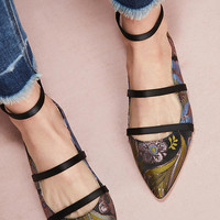 Anthropologie Strappy City Flats