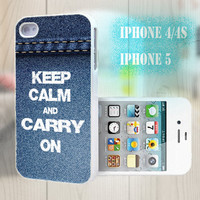 unique iphone case, i phone 4 4s 5 case,cool cute iphone4 iphone4s 5 case,stylish plastic rubber cases cover,  blue jeans keep calm bp2809