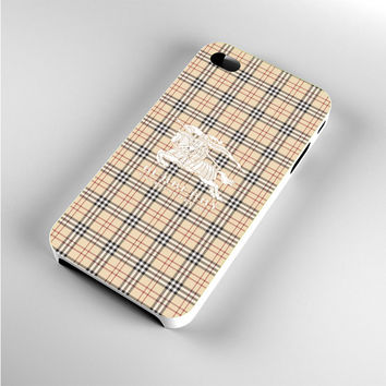 Burberry White Logo iPhone 4s Case
