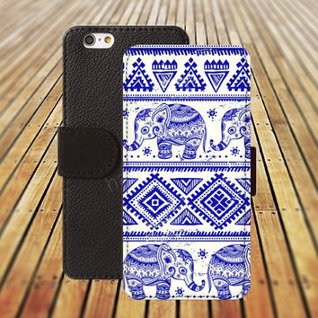 Elephant cartoon iphone 5/ 5s iphone 4/ 4s iPhone 6 6 Plus iphone 5C Wallet Case , iPhone 5 Case, Cover, Cases colorful pattern L009