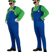 Super Mario Bros Adult Luigi Costume