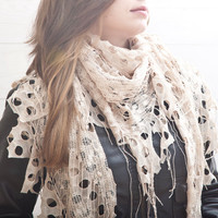Creamy Scarf, Fashion Accessories, Gift Ideas