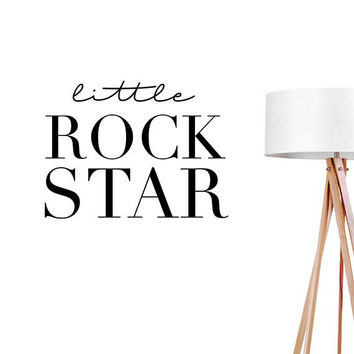Little Rock Star Wall Decal, Typography Wall Sticker, Kids Sticker, Typography Decal, Nursery Decal, Bedroom Wall Decal, Boys Room Decal