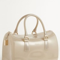 Women's Furla 'Candy' Transparent Rubber Satchel