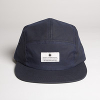 Waxed Cotton Camp Cap - Navy - Camp Cap Navy