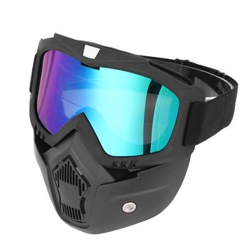 Men Women Ski Snowboard Mask Winter Ski Snowmobile Goggles Windproof Skiing Glasses Motocross Sunglasses with Mouth Filter
