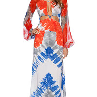 Indah Celia Maxi Dress in Orange
