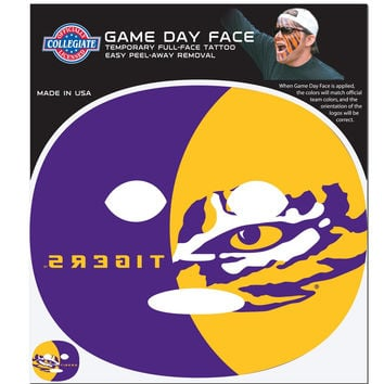 LSU Tigers Game Face Temporary Tattoo CGFD43