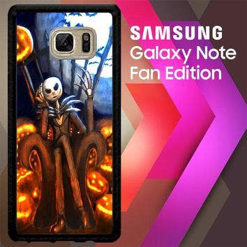 Nightmare Before Christmas Jack Skellington V1947 Samsung Galaxy Note FE Fan Edition Case