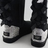 Swarovski Crystal UGG Australian Bling Bailey Bow or Classic Boots