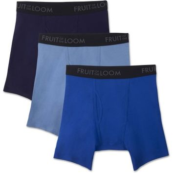 Fruit of the Loom Men's Breathable Boxer Briefs, 3 Pack - Walmart.com