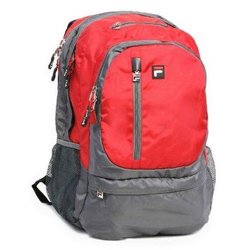 FILA Duo 15.6 in. Laptop Backpack bag school book case storage new red sport