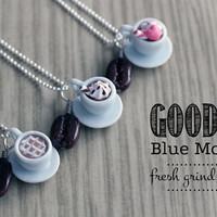 Polymer Clay Miniature Food Jewelry - Java Espresso Necklace