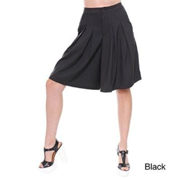 Women's Black Oversized Studio Bermuda Shorts DPP419