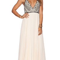 Free People Bell of The Ball Maxi Dress in Beige