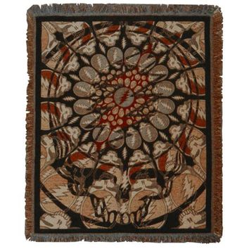 ONETOW Grateful Dead - Steal Your Face Batik Throw