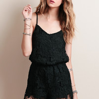 You Don't Say Lace Romper
