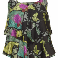 PRINTED TIERED CAMI