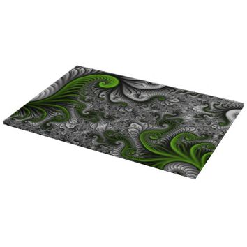 Fantasy World Abstract Fractal Art Cutting Board