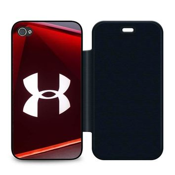 Under Armour Glass Leather Wallet Flip Case iPhone 4 | 4S