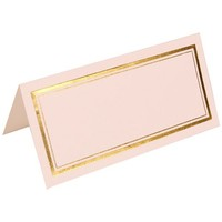 JAM Paper® - White with Gold Double Border Foldover Table Place Cards 2 x 4 1/2 - 100 cards per pack