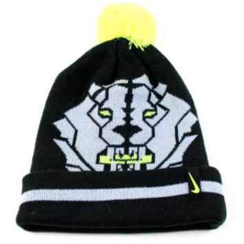 Nike Lebron King Lion Pom Pom Boy's Black/Gray Beanie Hat