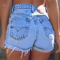 Fashion high waist cowboy shorts