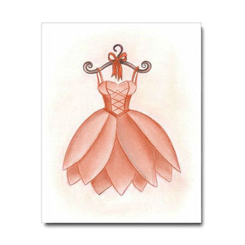 Ballerina Wall Art, Girls room Decor, Baby Girl Nursery, Kids Wall Art, Nursery Decor, Kids Decor, Nursery Wall Art , Ballet Dress Art Print
