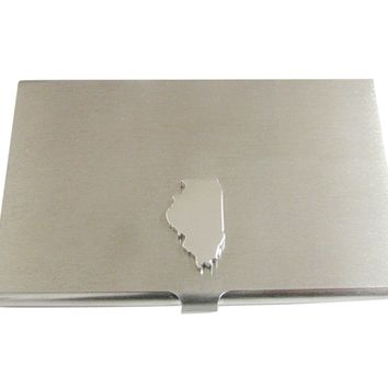 Illinois State Map Shape Business Card Holder