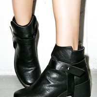 Qupid Roster Holster Boots Black