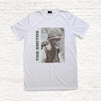 The Smiths TShirt UK Indie Punk Rock Meat is Murder Tshirts Men Women T Shirt