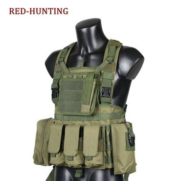 Tactical Load Bearing Molle Assault Vest RRV Chest Rig Harness Paintball Combat Molle Vest