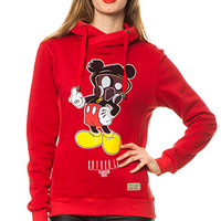 F You Mickey Women Red Hoodie