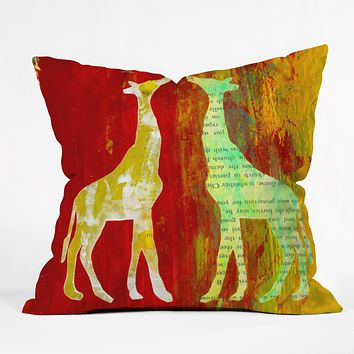 Sophia Buddenhagen Blush Throw Pillow