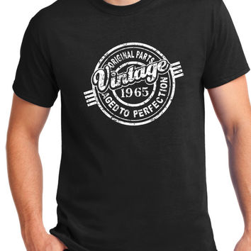 50th Birthday Gift - Turning 50 - 50 Years Old - Original Parts .1965 Shirt - Tee - T-Shirt - Gift for Him - Funny Aged to perfection.1965