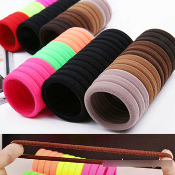 8X Baby Women's Girl Hair Band Ties Elastic Rope Ring Hairband Ponytail Holder A