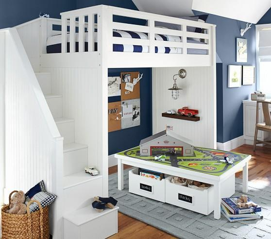 Catalina Stair Loft Bed Pottery Barn From Pottery Barn Kids