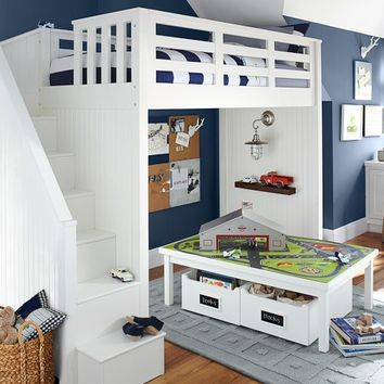 Catalina Stair Loft Bed | Pottery Barn Kids