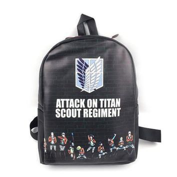 Cool Attack on Titan 2018 Hot Sale  Bag Japan Anime Printing Backpacks For Teenagers School Student Bag Fans Best Collection AT_90_11