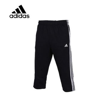 Original New Arrival Authentic Adidas Men Trainning Exercise Running Shorts Male Black Leisure Sportswear Flexible Breathable