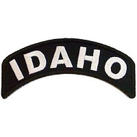 Idaho Rocker Patch Small Embroidered Motorcycle NEW Biker Vest Patch