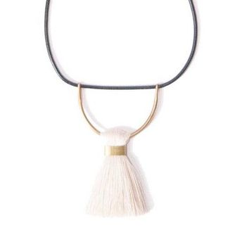Leather Umbra Necklace